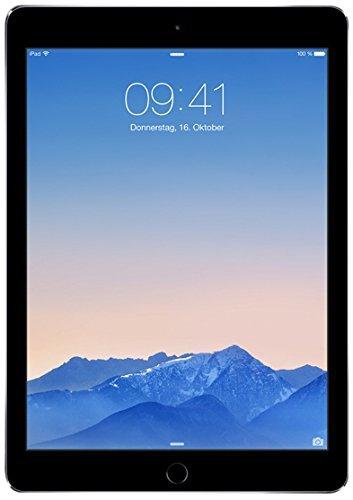 Apple iPad Air 2 128GB Wi-Fi + Cellular - Space Grey - Unlocked (Renewed)