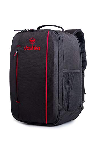 Vashka 3 IN 1 Backpack | Hand Luggage | Carry On Shoulder Bag 40x25x20cm 20 Litres | Enjoy Your Travel | Black