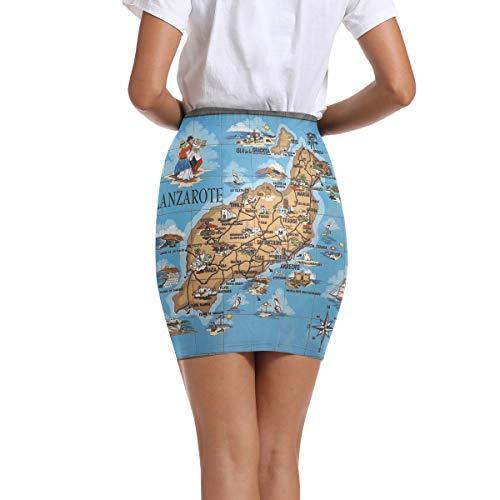 DEZIRO Lanzarote - Falda corta para mujer 1 48
