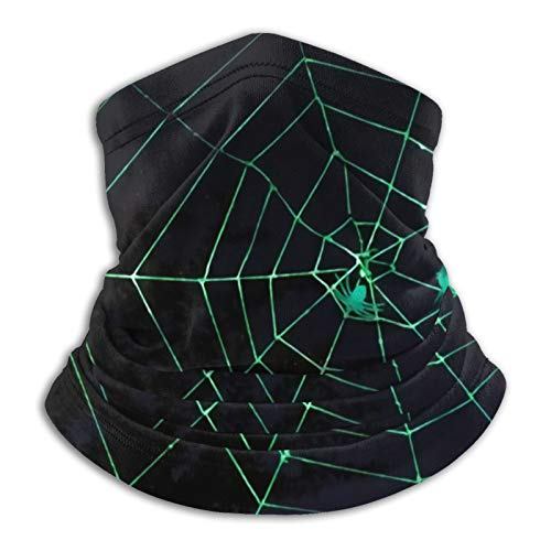 Spider Web in The Dark Forest - Braga para el cuello, pasamontañas para invierno, resistente al viento, protección solar, para esquí, para hombres y mujeres, color negro