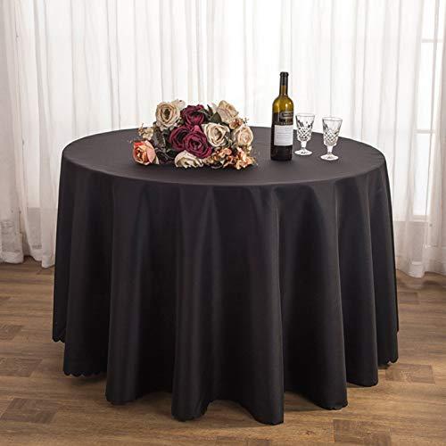 Mantel Redondo Grande Mantel de Mesa Redonda Mantel de Liso con Color sólido Mantel de Tela Mantel Decoracion para Cocina Redondo Mantel de Tela Lisa Mantel,Color3,Diameter 280CM