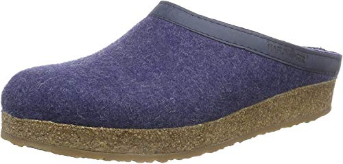 Haflinger Unisex-Erwachsene Grizzly Torben Pantoffeln, Blau (Jeans 72), 45 EU