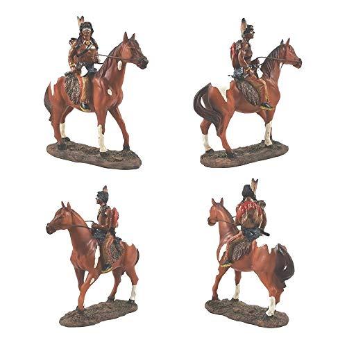 A.G.S. Indianerfigur Reiter auf Pferd Sammlerfigur