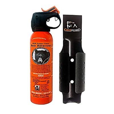 Udap Bear Spray Safety Orange Color Griz Guard Holster (Black)