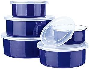 Conjunto Potes Agatha 5 Peças Euro Azul