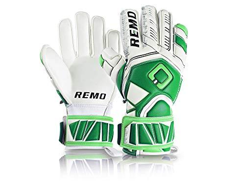 REMO Sports Erwachsene Guarda Fingersave Torwarthandschuhe, grün/Weiß, 10