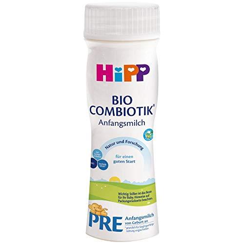 HiPP Bio Milchnahrung PRE Combiotik trinkfertig, 6er Pack (6 x 200 ml)