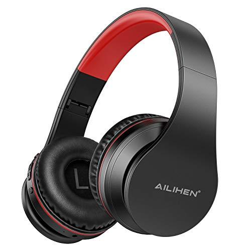 Cuffie AILIHEN A80 Wireless con Bluetooth Senza Fili con Microfono Cuffie Pieghevoli, Cuscinetti per Cuffie Morbidi, Supporta TF Card/Modalità MP3, 25 Ore di Riproduzione - oro rosa
