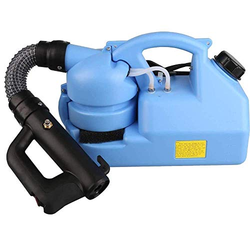 WYNC Portable Electric Intelligent-Fogger-ULV-Intelligent-Garden-Sprayer,Eliminates 99.99% of Viruses for Indoor-Outdoor 7L Capacity 8inch Long Tube Blue Color Include Carrying Strap 110V 60HZ(7L)
