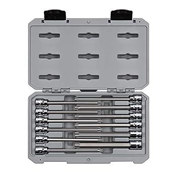 TEKTON 3/8 Inch Drive Long Torx Bit Socket Set 12-Piece  T10-T60  | SHB91305