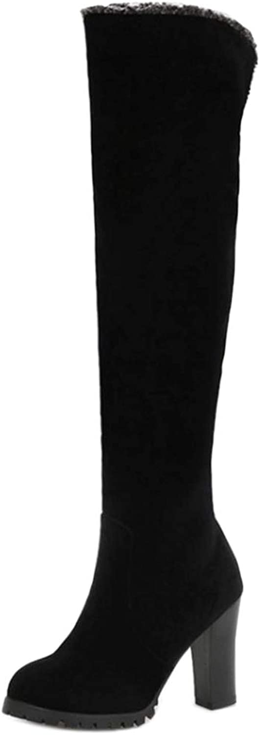 TAOFFEN Womens Over The Knee Boots Pull On