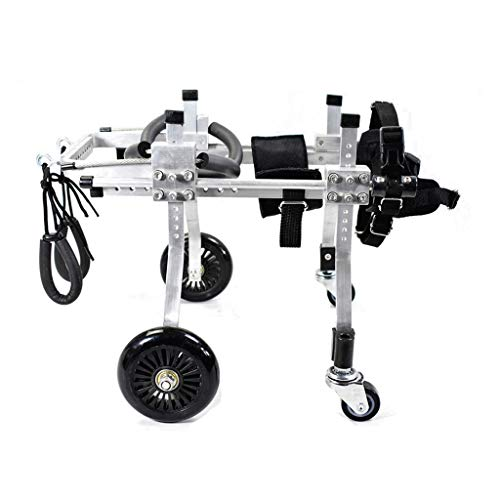 NIUYUANNN Einstellbarer Haustier Rollstuhl Haustier-Rollstuhl, justierbarer Entwurf des Hunde-Rollstuhl-4 Rad, Hüfte-Höhe: 8