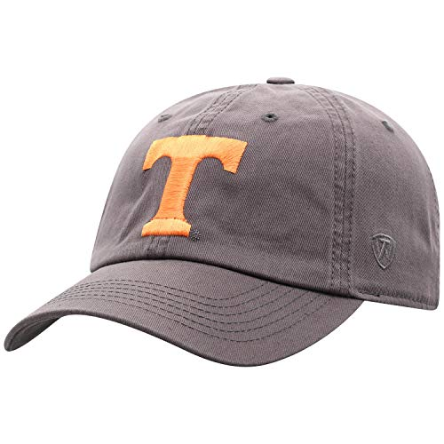 Top of the World Tennessee Volunteers Men's Adjustable Relaxed Fit Charcoal Icon hat, Adjustable
