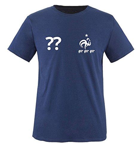 Trikot - FRA - WUNSCHDRUCK - Kinder T-Shirt - Navy/Weiss Gr. 110-116