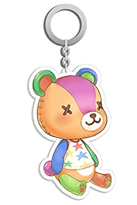AISION Animal Stitches Keychain New Horizons Toy Bear Accessories Chain Key Gadgets by