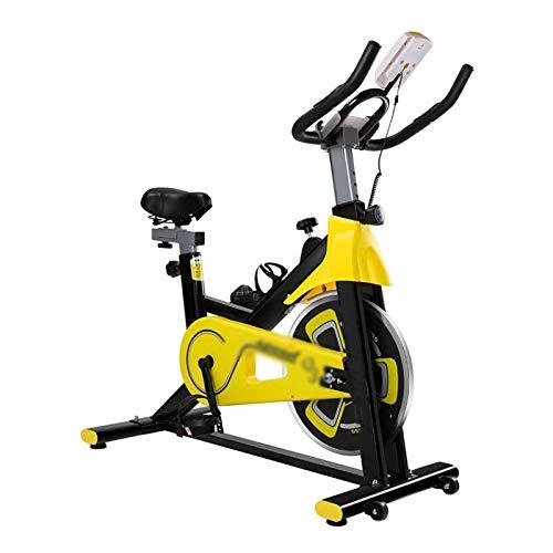 DJDLLZY Bicicletas de ejercicio cardiovasculares para interior y ciclismo, bicicleta estática para gimnasio en casa con cómodo cojín de asiento, correa silenciosa