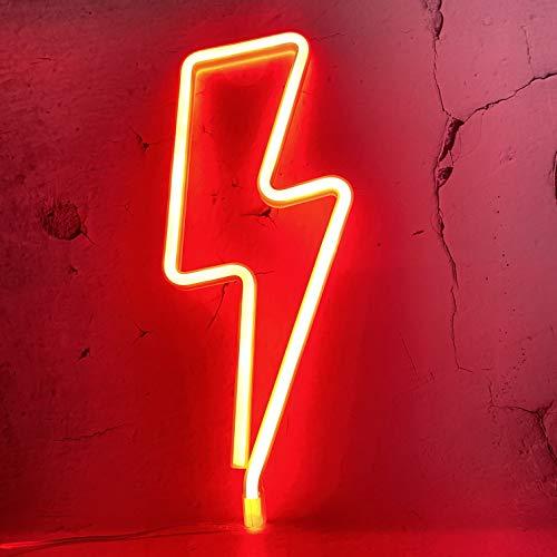 Batterie LED Neon dekorative Lichter, Blitz Neon Zeichen geformte Dekor Licht, Wanddekoration für Weihnachten, Geburtstagsfeier, Kinderzimmer, Wohnzimmer, Hochzeitsfeier Dekor