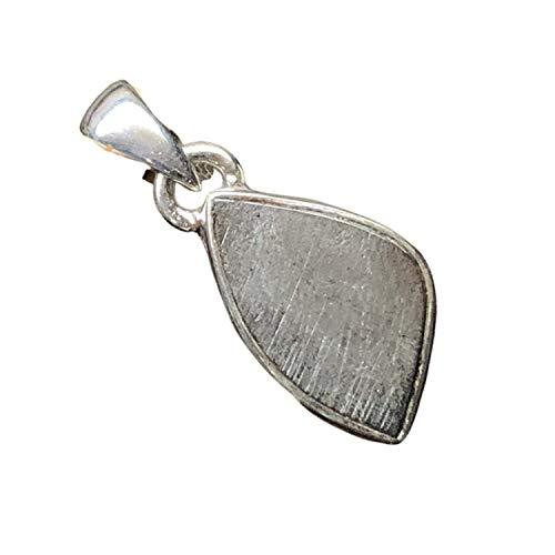 Natural Muonionalusta Meteorite Sweden 925 Solid Sterling Silver Pendant 20mm