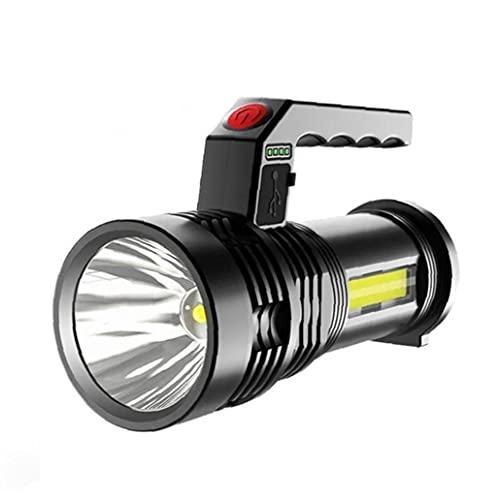 FeelMeet Recargable de la antorcha LED de la antorcha Que acampa Portable USB antorcha del proyector de Carga P50 Pesca Luz Lámpara Impermeable Negro