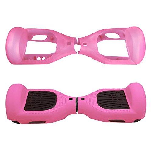 """Willdo Scooter Hülle Silikon Schutzhülle für 6,5\""""2 Wheels Balance Roller - Balance Hover Board Protector Schutzhülle (Pink)"""