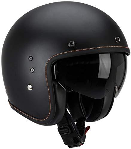 Scorpion BELFAST SOLID Motorrad Jethelm - matt schwarz Größe L, 81-100-10-05, Matt Black