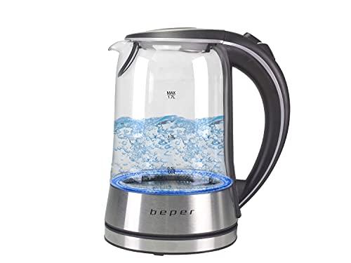 BEPER BB.104 Hervidor de Agua eléctrico, 2200 W, 1.7 litros, 0 Decibeles, Vidrio,...