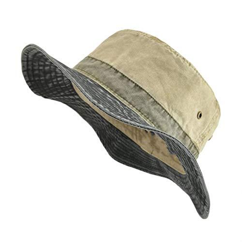 Los hombres sombreros del cubo de los sombreros para los hombres de las mujeres lavados sombrero de algodón verano pesca Caza Cap protección solar gorras sombrero