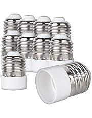 kwmobile 10x Lamp Socket Adapter Convertor - E27 socket naar E14 socket Lamp Adapter - Lamp Socket Adapter voor LED Halogeen Energiebesparende Lampen