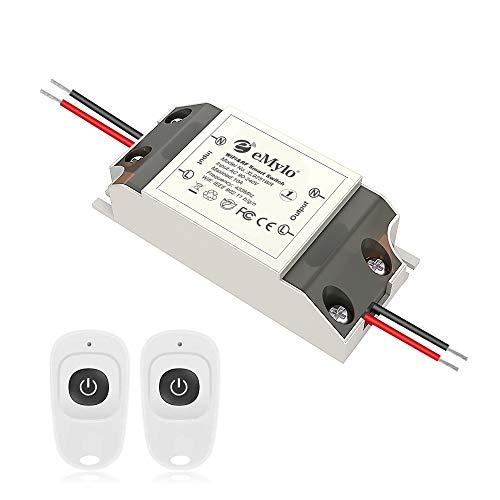 Smart Wifi RF Switch Drahtloses Relaismodul eMylo Fernbedienung Lichtschalter 1 Kanal 12V Home Automation Outlet Timer 433Mhz 5V-36V Unterstützung Alexa/Google Home Über Iphone Android