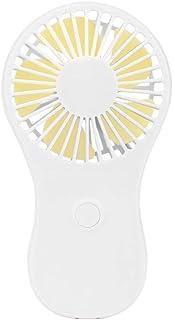 Exing - Ventilador de mano portátil con 3 pilas AAA, blanco
