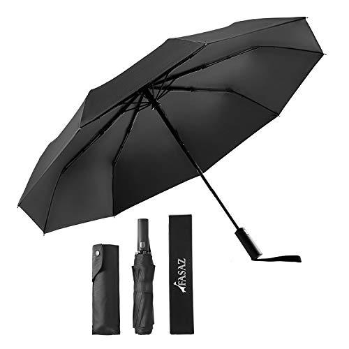 折りたたみ傘 自動開閉 軽量 丈夫 晴雨兼用 UVカット 遮光 遮熱 UPF50+ おりたたみ傘 父の日 台風対応 梅雨対策 超撥水 収納ポーチ付き (ブラック)