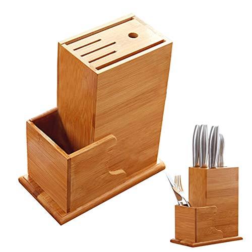 Cuchillo Universal Bloque De Bambú Soporte, Soporte Bambú Para Cuchillos Para Una Organizado Y Ordenada, Cocina Organizador Para Cuchillo De Cocina Utensilios(Sin Cuchillo)