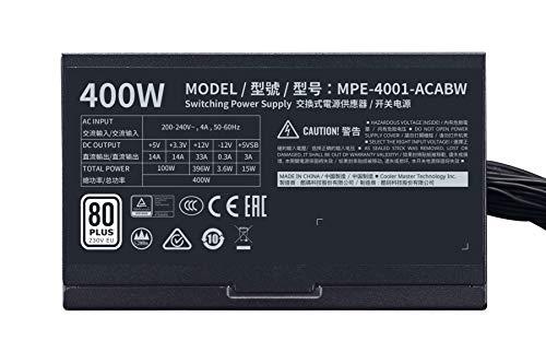 Cooler Master MWE White V2 230V 400 W 80+ Certified ATX Power Supply