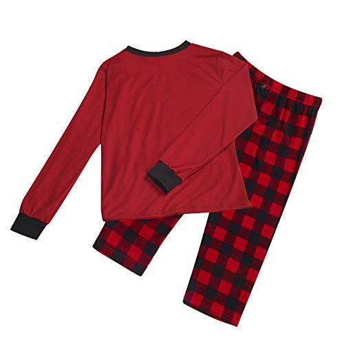 Family Matching Pyjamas Set, Matching Christmas Pyjamas, Matching Pajamas Christmas Pajamas for Family Women Men Kids Baby Pjs Red Plaid Reindeer Loungewear