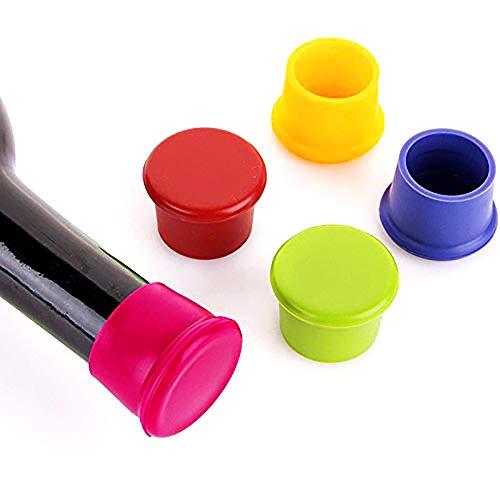 JER 5 Tapones de Silicona para tapón de Vino/sellador de Cerveza, Tapones de Silicona para Botellas de Vino