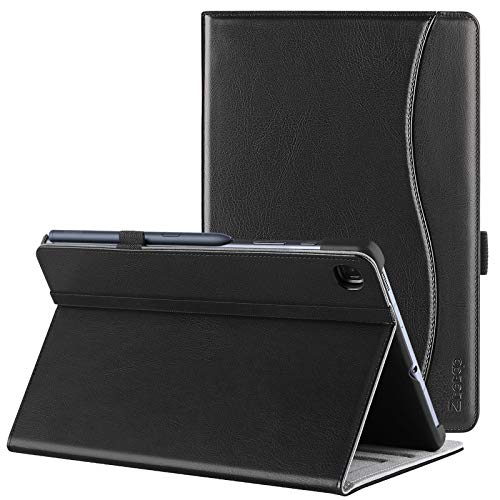 ZtotopCase for Samsung Galaxy Tab S6 Lite Case 10.4, Premium Leather Business Stand Folio Cover, Multi-angle, Pocket and Auto Wake/Sleep Function for Samsung S6 Lite 10.4 Inch 2020, Black
