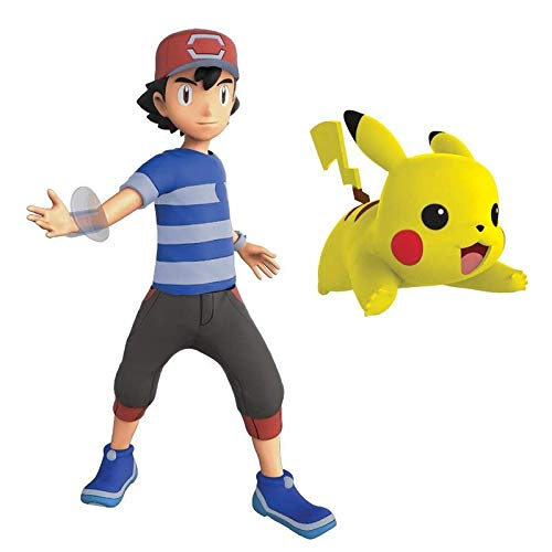 Lively Moments Pokémon Battle Pack Actionfigur mit Funktion / 2 Sammelfiguren Alola Erweitung Ash & Pikachu