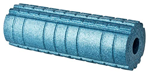 BODYMATE Faszienrolle Active Mittel-Hart mit GRATIS E-Book - Cool-Grey-Blue 45x15cm mit aktivierender Oberflächenstruktur
