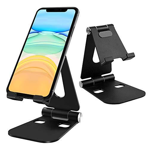 G-Color Soporte Tablet Móvil de Aluminio, Multiángulo Soporte Base Teléfono, Portátil Stand Ajustable para iPhone 6/7/8 Plus/XR/XS MAX, Huawei, Xiaomi, Samsung S8 S9, iPad/Kindle/Switch