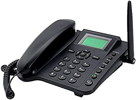 Sourcingbay Wireless GSM Desktop Phone with 2G SIM Card Slot - Quadband and SMS Function
