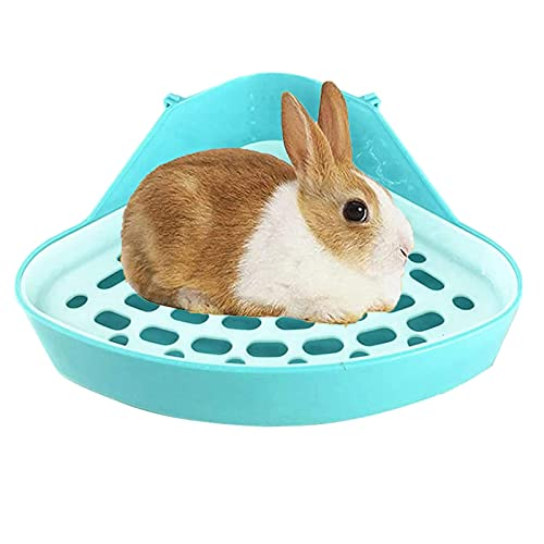 NININI Triángulo Orinal Esquina,Caja De Pan para Mascotas,Bandeja para Animales,Caja De Ropa De Cama para Mascotas,para Ratas Pequeñas, Hámsters,Cobayas