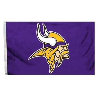 Fremont Die NFL Minnesota Vikings 3  x 5  Flag with Grommets 3 x 5-Foot Logo