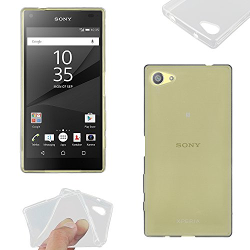 ebestStar - Funda Compatible con Sony Xperia Z5 Compact Carcasa Silicona, Protección Crystal Clear TPU Gel, Ultra Slim Case, Transparente [Aparato: 127 x 65 x 8.9mm, 4.6'']