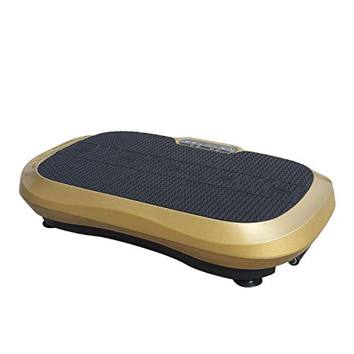 Topashe Plataforma Vibratoria Ultra Slim,Máquina para Levantar Grasa, máquina para moldear el Cuerpo en el hogar: Oro Local,Vibratoria Máquina de Ejercicio