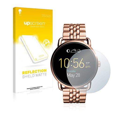 upscreen Entspiegelungs-Schutzfolie kompatibel mit Fossil Q Wander – Anti-Reflex Displayschutz-Folie Matt