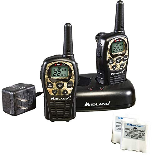 Midland 22 Channel FRS Walkie Talkies with Channel Scan - Long Range Two Way Radios, Silent Operation, Batteries Included (Mossy Oak Camo, 2-Pack). Buy it now for 44.99