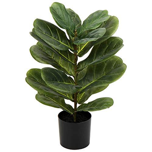 55,9 cm alberi artificiali all'aperto violino foglie di fico in vaso per la decorazione di casa e...