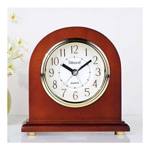 Despertadores Junto a la Cama -Reloj de Soporte Reloj de Mesa Reloj Europeo Sala de Estar Reloj de Mesa de Madera Maciza Reloj Creativo Decoración Ret