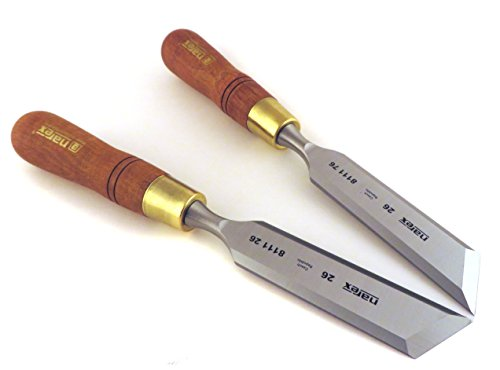 Narex Right & Left 26 mm (1-1/16 Inch) Skew Paring Chisels 81126/811176