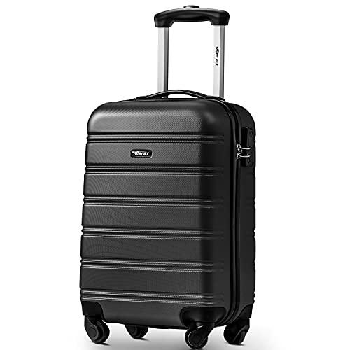 TITA-DONG ABS Hard shell 4 ruedas Trolley Maleta equipaje set Holdall Case (20 pulgadas, negro)
